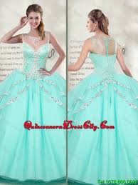 quinceanera dresses 2016 best selling scoop 2016 mint quinceanera dresses with beaded 182 91