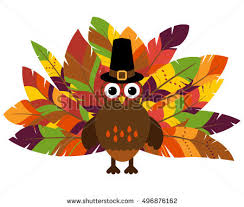 vector turkey colorful feathers thanksgiving stock vector