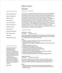 teacher resume sample pdf printable teacher of 2 pages english