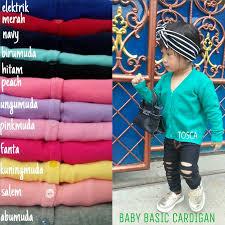 Cardigan Termurah jual promo baby basic cardigan anak rajut murah shopee rajut