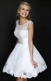 white 8th grade graduation dresses 2015 8th grade beaded white graduation dresses lace