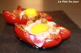cuisiner poivron poivrons farcis aux oeufs le plat du jour