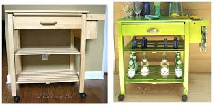 microwave cart makeover to bar cart with modern masters metallic