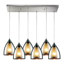 kitchen luxury 6 lights stained glass kitchen pendant lighting
