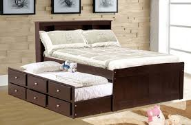 Full Bed With Trundle Bedding Amusing Full Size Bed With Trundle Black Wood And 3