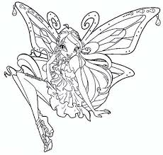 princess bloom picture winx club coloring pages batch