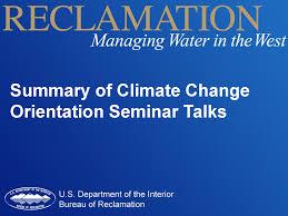 Department Of The Interior Doi Climate Change Bureau Of Reclamation