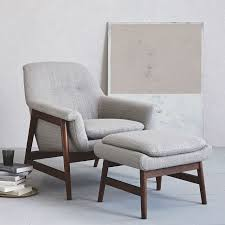 Comfortable Chair And Ottoman Theo Show Wood Chair West Elm