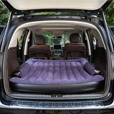flock inflatable car bed back seat cover air mattress camping