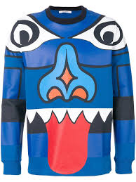 givenchy sweater givenchy totem sweater blue the business fashion
