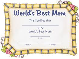 Appreciation Certificate Templates Mothers Day Printable Certificate Mother Days Pinterest