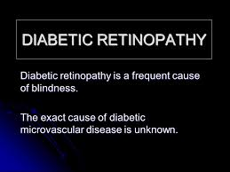 diabetic retinopathy diabetic retinopathy is a frequent cause of