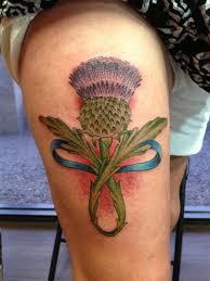 depiction gallery tattoos flower scottish thistle