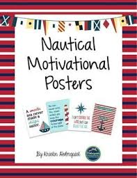 themed posters this is a set of 4 posters with nautical themed motivational