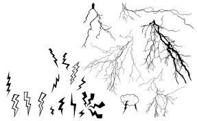 lightning bolt vector pack illustrations creative market