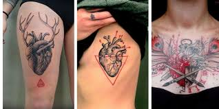 collection of 25 3d red broken heart tattoo on arm