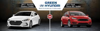 hyundai elantra vs 2017 elantra vs 2017 focus in springfield il green hyundai