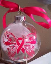 breast cancer ornament stitches home