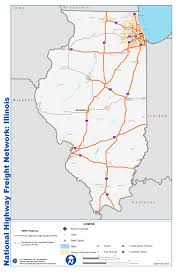 Map Of Chicago O Hare Airport by National Highway Freight Network Map And Tables For Illinois