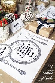 Table Place Mats Diy Reusable Table Setting Placemats