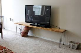 Diy Industrial Furniture by Cool Diy Narrow Wood Industrial Tv Stands With Hairpin Legs Ideas