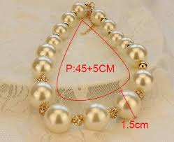 big pearl choker necklace images Big pearl necklace choker with gold accents 4ever co jewelry jpg