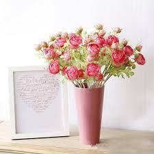 Ranunculus Aliexpress Com Buy 1 Pcs Artificial Ranunculus Asiaticus Flower