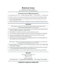 sample resume customer service representative sample resume