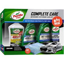 how to shampoo car interior at home amazon com turtle wax 5 piece complete care kit automotive