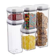 oxo good grips 5 piece pop canister set container store