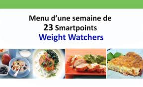 cuisine weight watchers menu d une semaine de 23 points