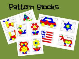 pattern blocks math activities math work station book study geometry with free files pattern