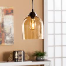Colored Glass Pendant Lights Pavo Colored Glass Mini Pendant Lamp Amber Southern