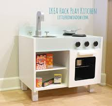 play kitchen from furniture ikea hack play kitchen fridge and microwave window