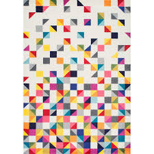Where To Buy Area Rug Contemporary Geometic Triangle Mosaic Multi Area Rugs