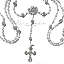 wedding lasso rosary 2 in 1 convertible swarovski wedding lasso rosary rana jabero