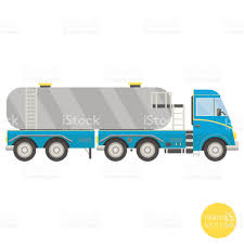 cartoon transport tank truck vector illustration view from side