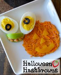 halloween hash browns breakfast recipe healthy ideas for kids