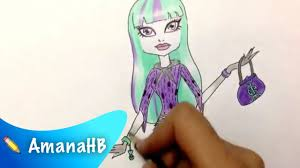 speed drawing twyla monster