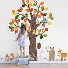 forest animals wall sticker peel and stick repositionable fabric forest animals wall sticker forest animals wall sticker