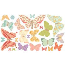 love mae fabric wall sticker girly butterflies moowoo love mae wall stickers girly butterflies sheet