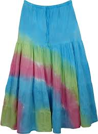 cotton skirt colorful hues shakespeare cotton skirt clothing tie dye tiered