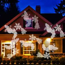 Light Flurries Snowflake Projector by Christmas Ledstmas Light Projector Snowflake Outdoor Projection