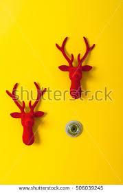 Christmas Reindeer Door Decorations by Reindeer Geometric Christmas Card Stock Vector 156580373