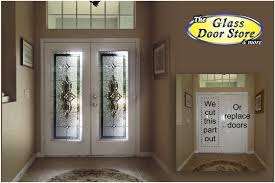 change the plain glass door to a fancy glass door the glass door