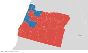 A Map Of Oregon by Oregon Election Results 2016 Live Maps Polling Analysis