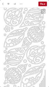 free printable ornament pattern and template to make