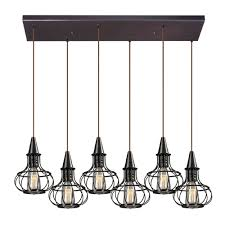 Pendant Track Lighting Fixtures Elk 14191 6rc Yardley Retro Oil Rubbed Bronze Multi Pendant