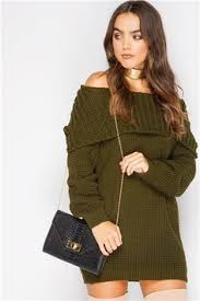 missguided grey zip through bardot long sleeve mini jumper dress