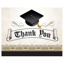 thank you graduation cards 25ct graduation cap gown thank you cards target